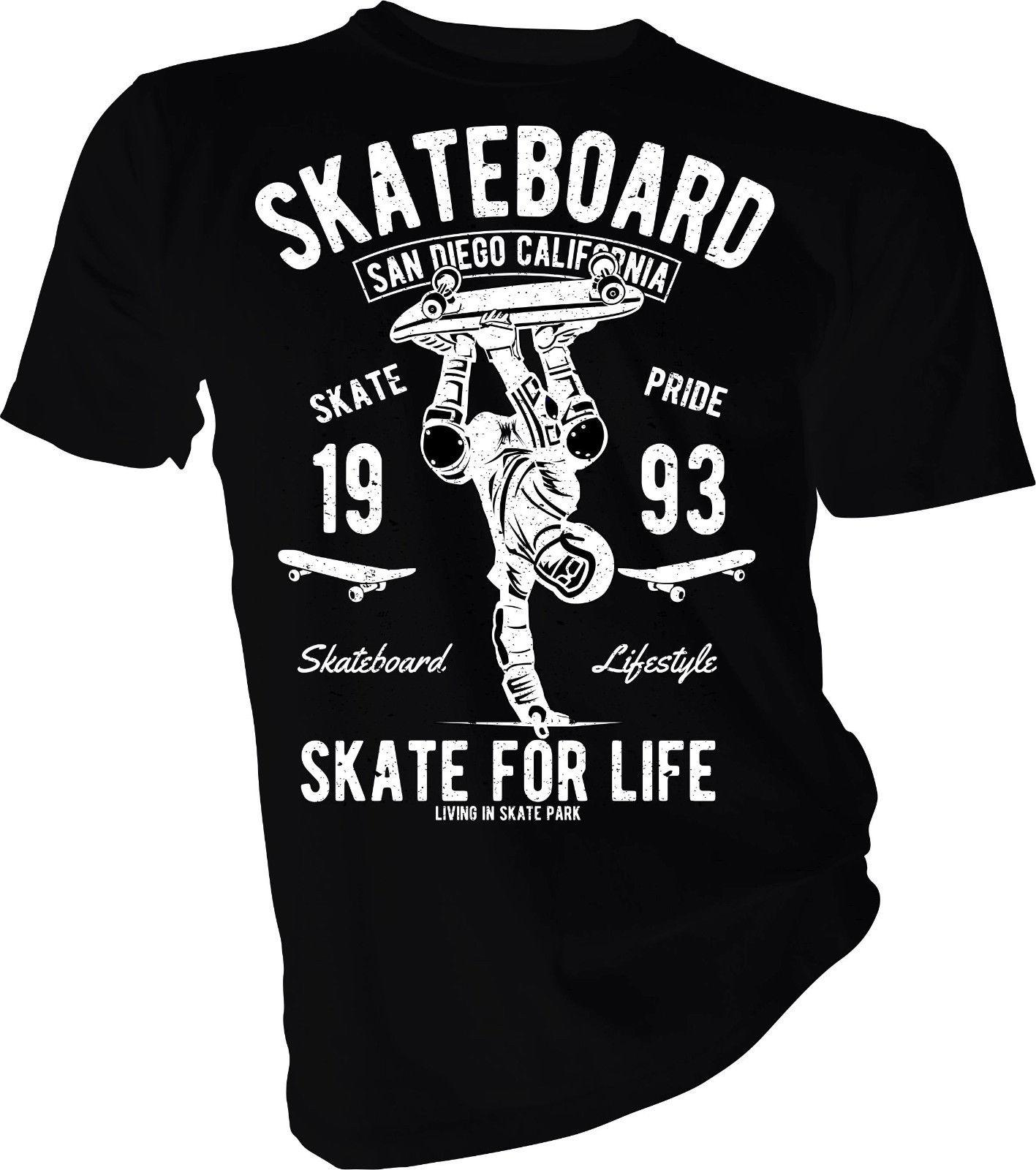 Skate For Life Skate Boarding California Boarder Extreme Adult