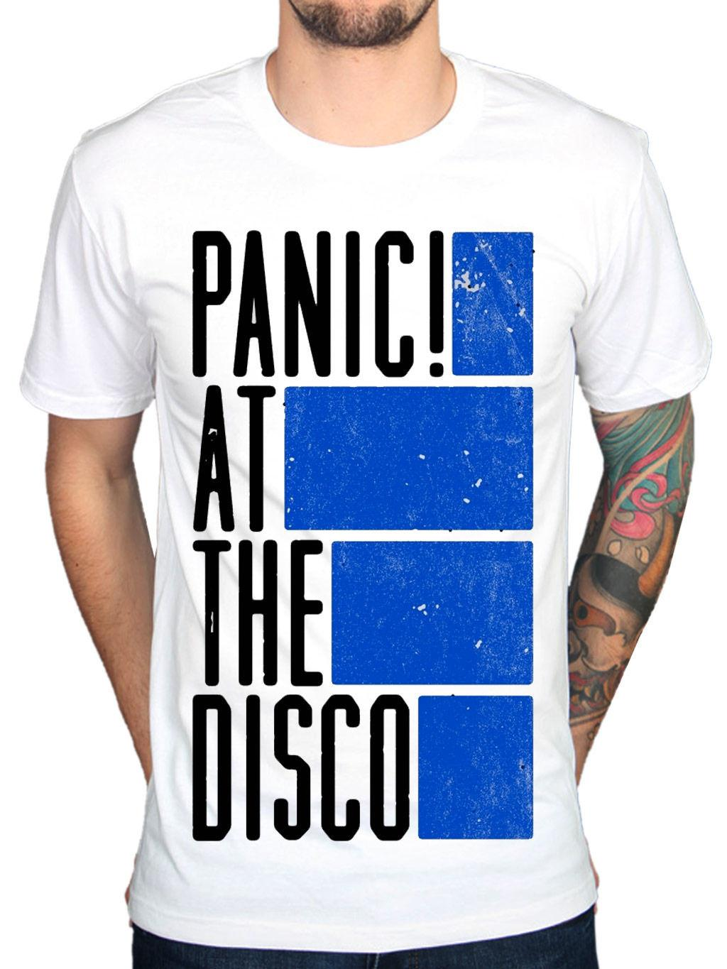 503812a3 Official Panic! At The Disco Bars T-Shirt PATD Live In Chicago Pretty New Merch  Men's Clothing T-Shirts Tees Men Hot Cheap Short Sleeve Male