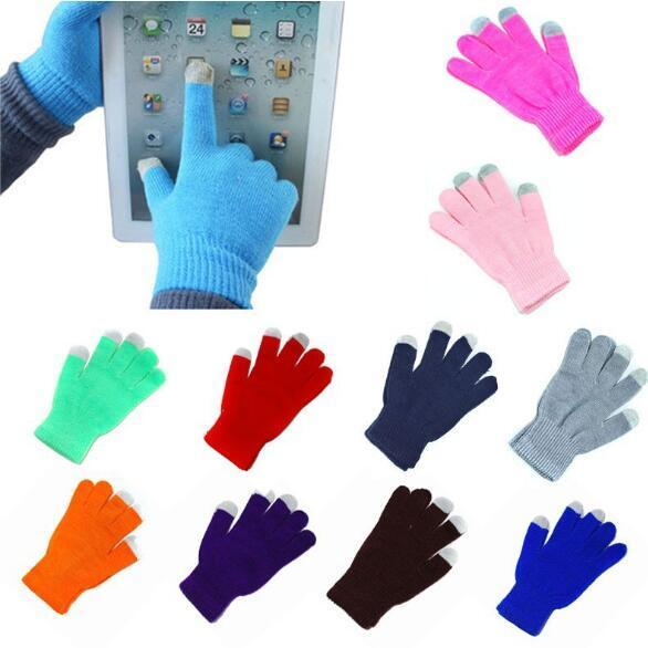Warme Winter-Mehrzweck-Unisex-Touchscreen-Handschuhe Weihnachtsgeschenk für iPhone iPad Smart Phone Party Favor 2pcs / pair