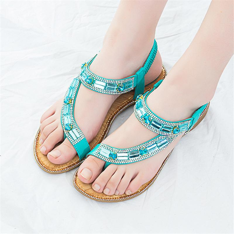 Plana Más Mujer Sandalias Tamaño Rejilla Moda Azul Rayas De Verano Transfronterizas 2019 A Zapatos El 42 Para Nuevo BQdroxeWEC