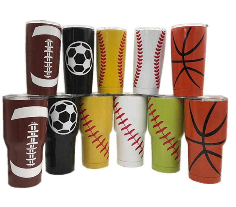 14fdd9dd91d 30oz 20oz Tumbler Cup Baseball Softball Basketball Water Bottle ...