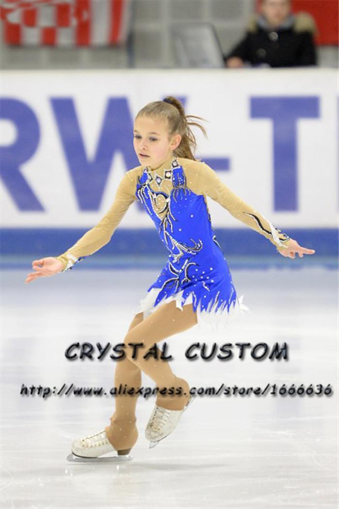 9c9059fce Vestido de patinaje artístico a medida para niñas Nueva marca Vestidos de  patinaje sobre hielo para la competencia DR4814