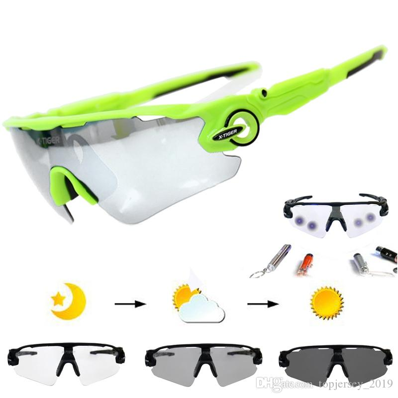 e3c4b2e012e8 Photochromic Polarized Cycling Eyewear Bicycle Glasses MTB Bike ...