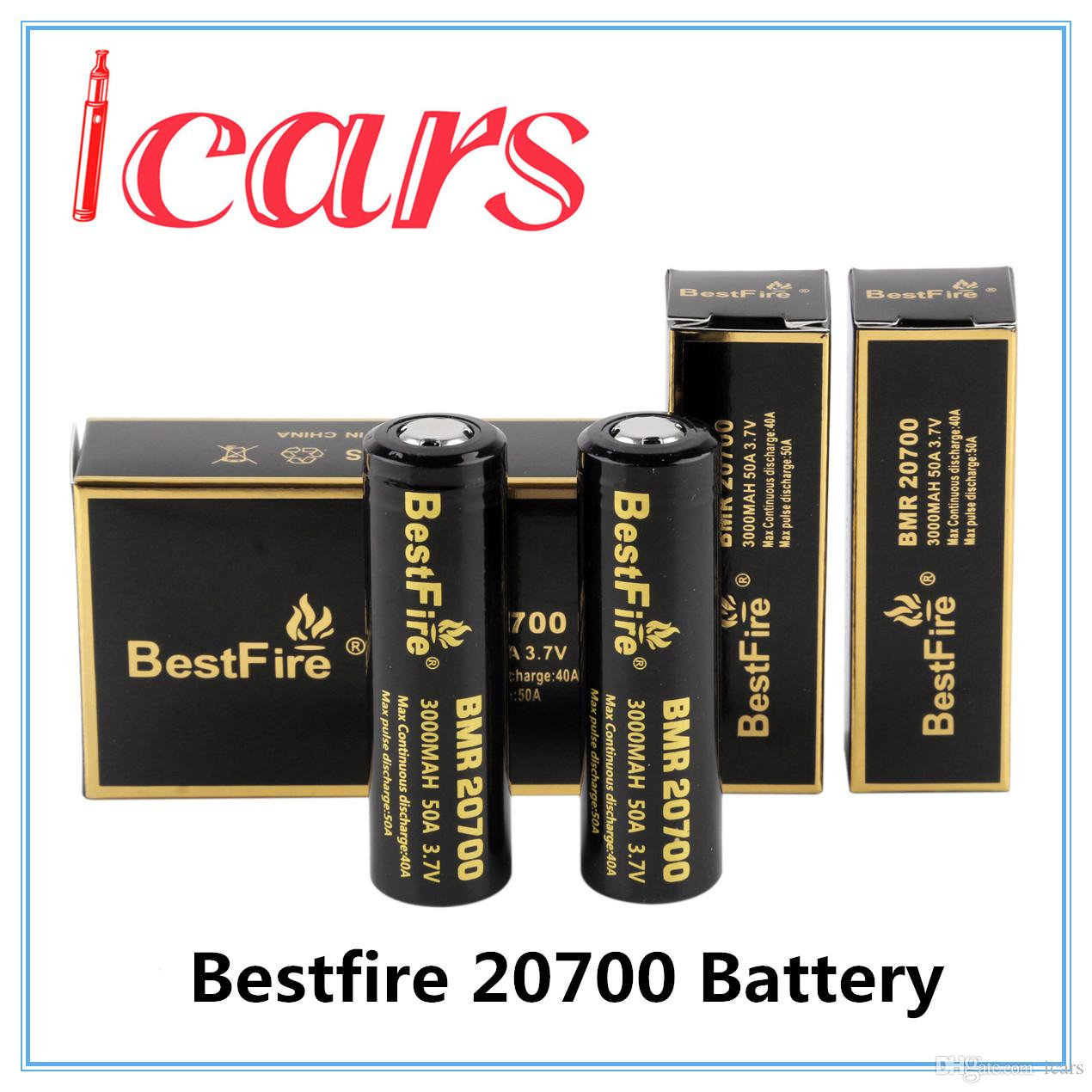 Authentic Original BestFire BMR 20700 3000mAh 50A 3.7V High Drain Rechargeable Battery for 510 thread Box Mod