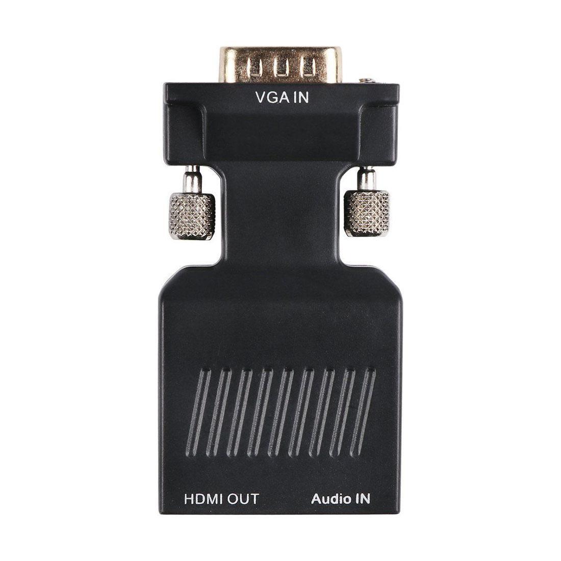 HD VGA al convertitore di HDMI HDTV 1080p AV Video Audio cavo adattatore PC STB fino DVD con USB Power DC / 3.5mm Jack Cavo audio