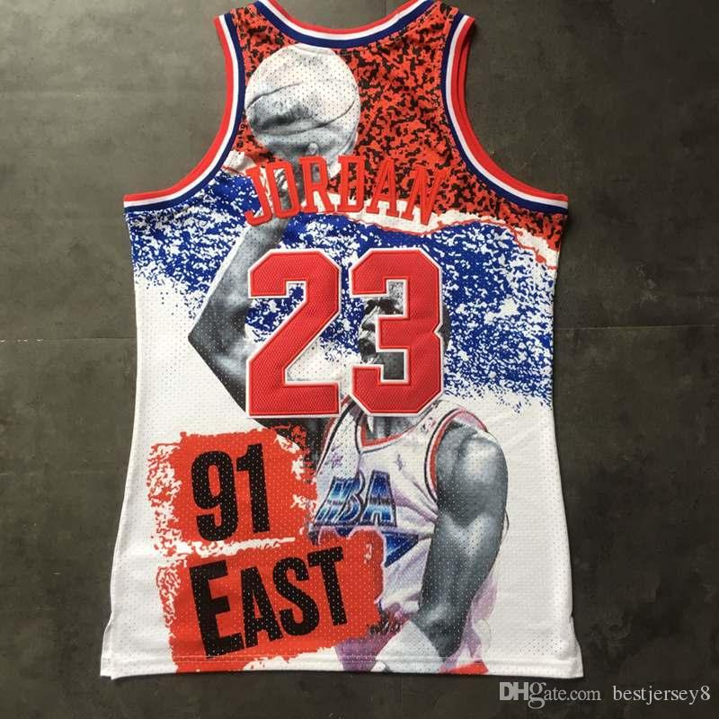 finest selection 8283f eaba1 Men's Eastern Conference 23 Mitchell & Ness White 2019 All Game Star 1991  Fashion Jersey