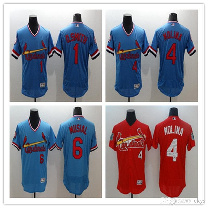 finest selection 7e85d 10f68 4 Yadier Molina Jersey #6 Stan Musial Cooperstown Vintage #1 Ozzie Smith  St. Louis Cardinals Baseball Jerseys