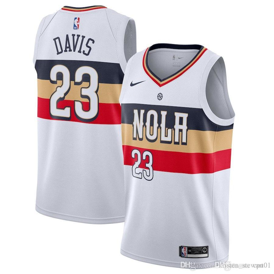 Men Pelicans New Orleans New Season Jersey Anthony Davis Reward Edition Baketball Jerseys White