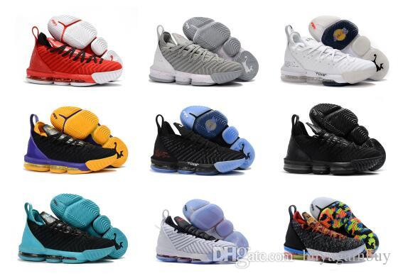timeless design 23211 cc1cf High Quality Athletic LeBron 16 Basketball Shoes Men Black White Metallic  Gold Red Green Multi Sneaker Boys Goose Down Jacket Toddler Down Parka From  ...