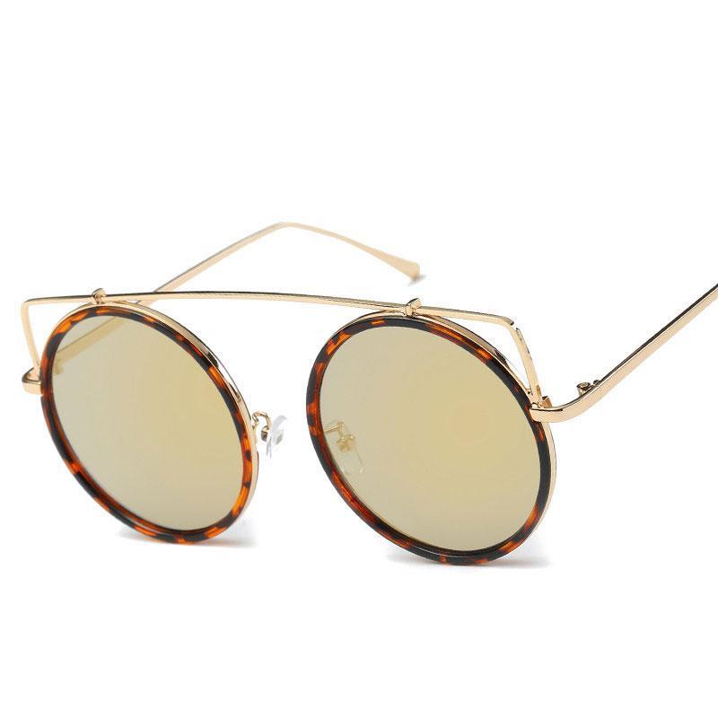 d51e54d9d6d Round Luxury Metal Sunglasses For Men And Women Classic Vintage ...