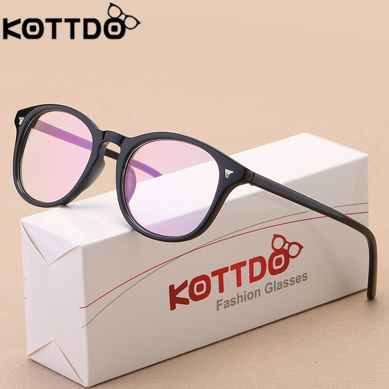 94e8f5613e KOTTDO 2019 Female Retro Round Glasses Frame Fashion Optical Glasses ...