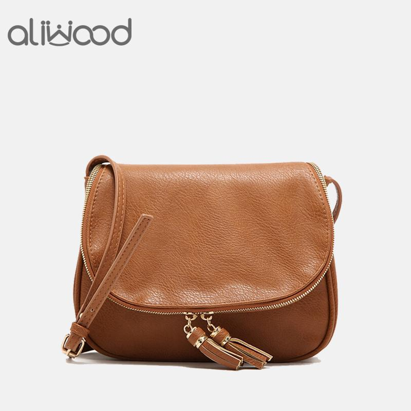 c5427efefa1f 2018 New Tassel Women Bag Leather Handbags Cross Body Double Zipper  Shoulder Bags Ladies Fashion Messenger Bag Bolsas Feminina