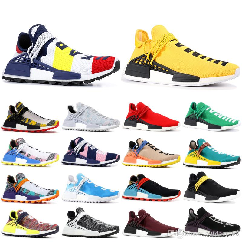 pretty nice d7efd 511c6 PW HU NMD Nerd Running Shoes Human Race Heart Mind Billionaire Boys Club  Pharrell Williams Men Women Designer Sport Sneakers