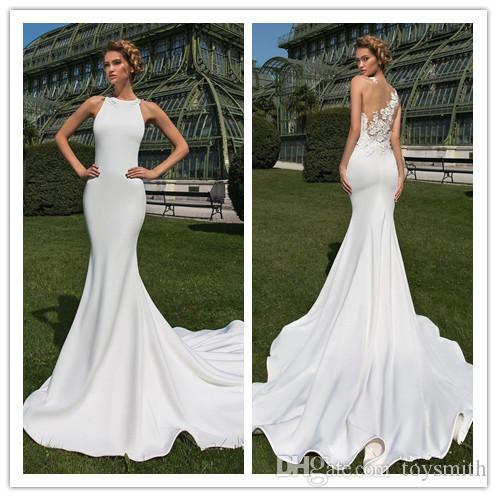 897849eebcdd 2019 New Heavy Handworks Luxury Pearls Mermaid Wedding Dresses Sweetheart  Gorgeous Long Bridal Gowns Sweep Train Customize Blue Wedding Dress Country  ...