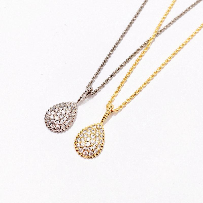 b482a041e Wholesale Luxury Diamond Pendant Necklaces Fashion Design Full Rhinestone Necklaces  Women Golden Silver Rose Fine Jewelry Lover Gift Gold Heart Pendant ...