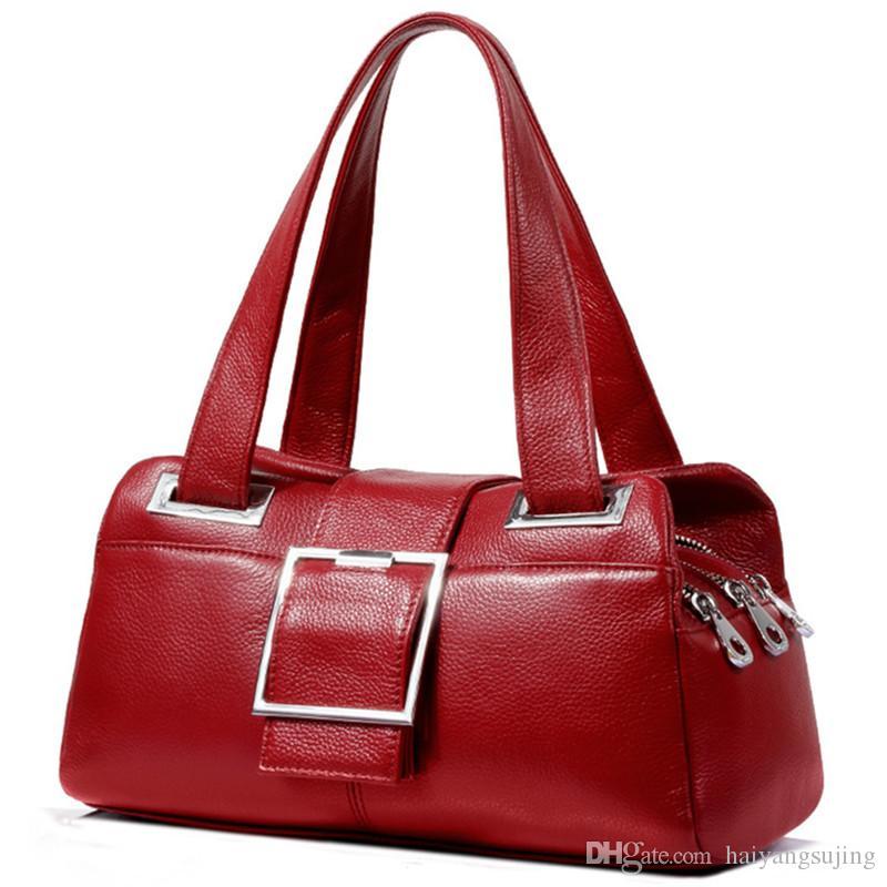 9974024005 Genuine Leather Handbag Soft Skin Bag Luxury Brand Female Pouch Crossbody  Bags For Women Fashion Shoulder Messenger Handbags 3 Layer Zipper Handbag  ...