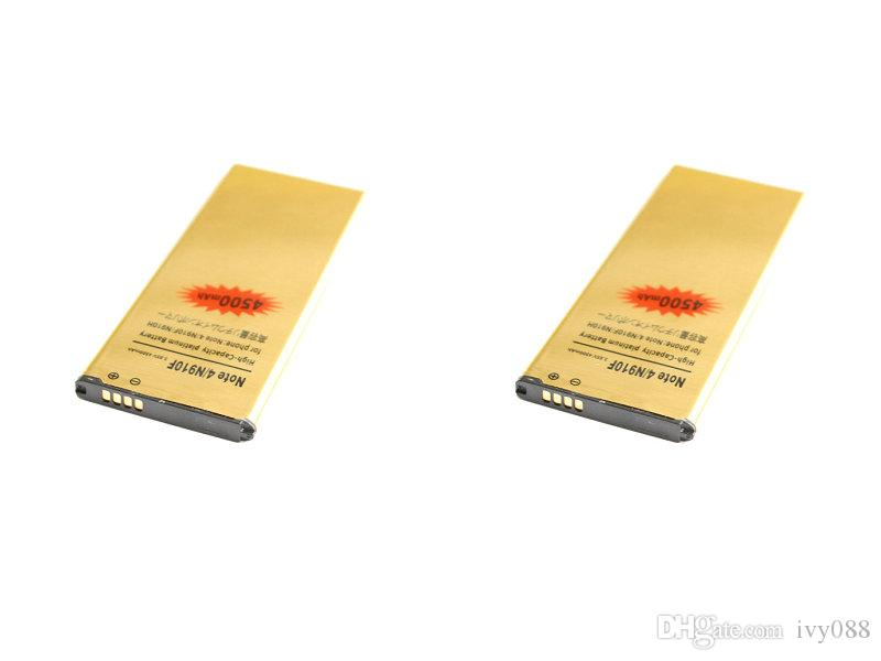 2019 new 2x 4500mAh EB-BN910BBE Gold Replacement Battery For Samsung Galaxy  Note 4 IV N910F N910H N910S N910T N910V N910A N910C N910G