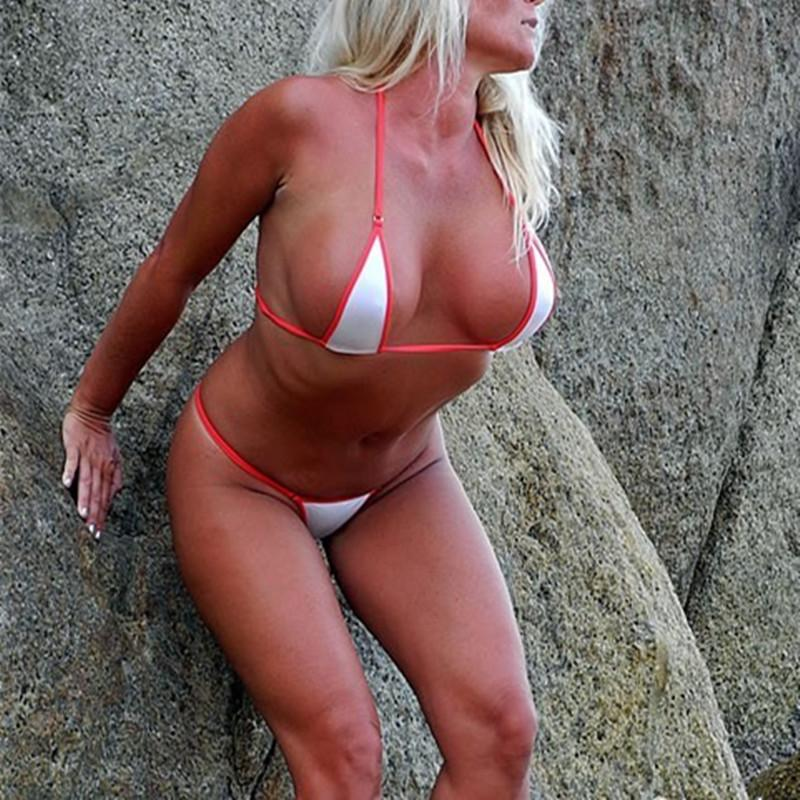 eb39aebadb05b 2019 Women Extreme Sexy Mini Micro Bikini Bathing Suits Exotic Swimwear Set  Two Piece Swimsuit Beachwear Sunbath String Lingerie Gift From Iris0310