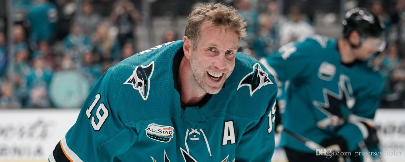 purchase cheap 45b2e 4987c Erik Karlsson San Jose Sharks 2019 All-Star Game Evander Kane Joe Pavelski  Brent Burns Logan Couture Joe Thornton Evander Kane Hockey Jersey