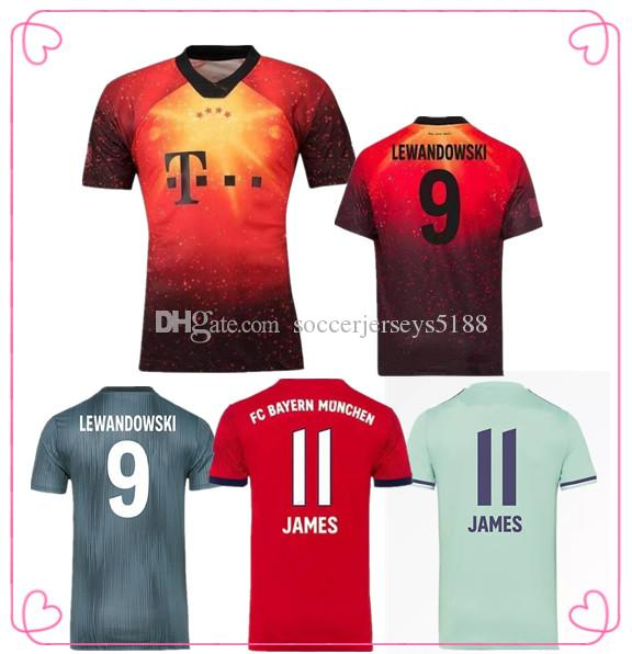 best website 1e659 3d663 NEW Thailand Bayern Munich JAMES RODRIGUEZ Soccer jersey 2018 2019  LEWANDOWSKI MULLER KIMMICH Soccer Shirt 18 19 HUMMELS Football uniform