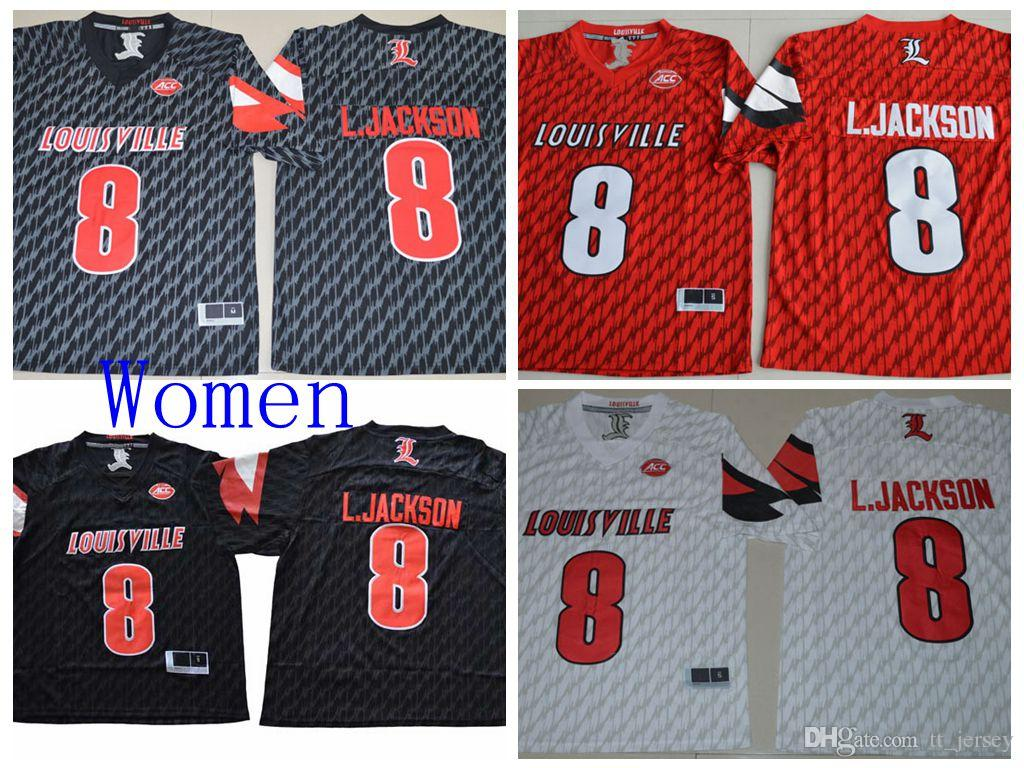0b8167fd9 2019 Women NCAA College Jersey Louisville Cardinals 8 Lamar Jackson Jersey  Woman Sport Football Jersey High Quality On Sale From Tt_jersey, $20.58 |  DHgate.