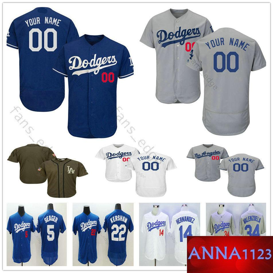big sale 271ce 44b6f Custom Los Angeles #14 Enrique Hernandez 99 Hyun-Jin Ryu 31 Joc Pederson 17  Joe Kelly Men Women Kids Youth Dodgers Baseball Jerseys