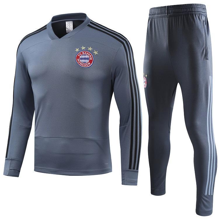 the latest 40839 501a0 Bayern Munich soccer jacket tracksuit 2018 2019 Survetement VIDAL  LEWANDOWSKI MULLER ROBBEN JAMES full jacket Training suit