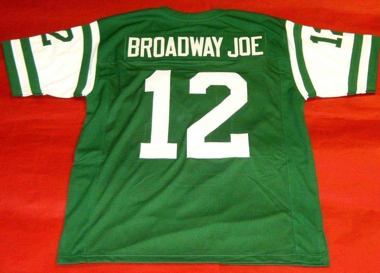 buy online db4a2 862d6 Cheap retro #12 JOE NAMATH CUSTOM MITCHELL & NESS Jersey BROADWAY JOE green  Mens Stitching High-end Size S-5XL Football Jerseys College NCAA