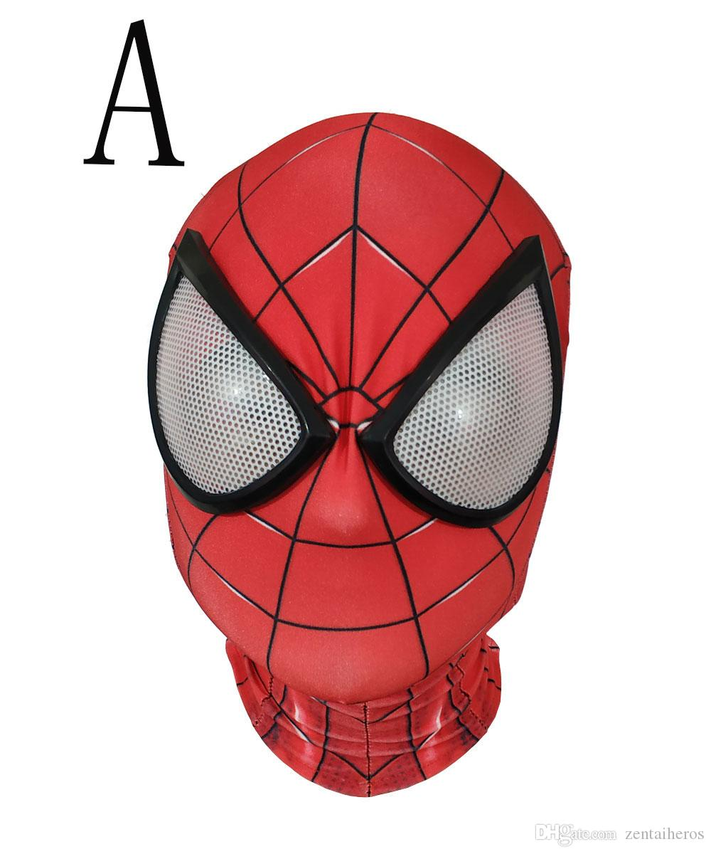 3D Spiderman Masks Avengers Infinity War Iron Spider Man Cosplay Costumes Lycra Mask Superhero Lenses