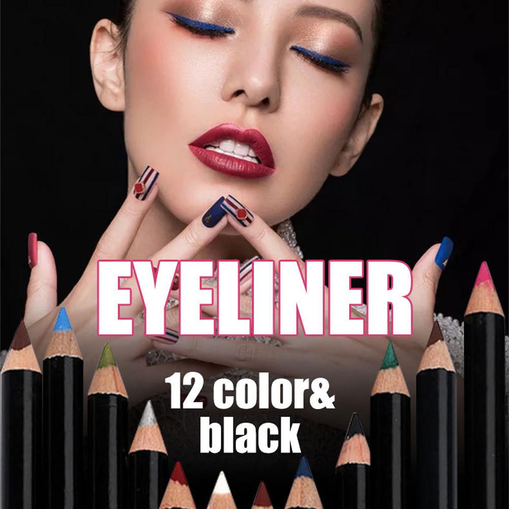 Beauty Essentials Hottest Black Color Liquid Eye Liner Pen Long Lasting Waterproof Beauty Tool Eyeliner Pencil Makeup Cosmetics Women Dropship Eyeliner