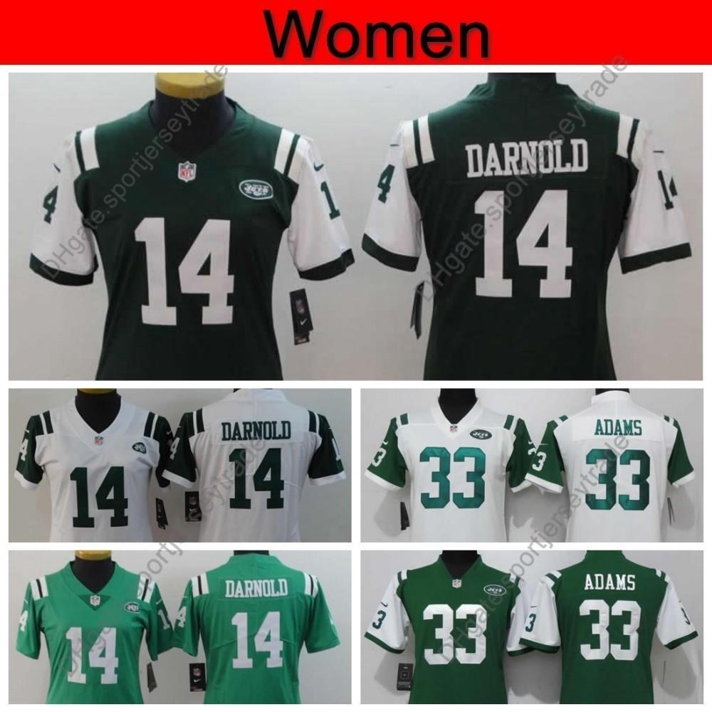 on sale 93a9b 67e16 Womens New York Ladies Jets 14 Sam Darnold Jersey Women 33 Jamal Adams  Football Jerseys Girls Home Green Stitched S-XXL