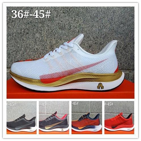 bbdd4fe0b8260 Zoom Pegasus 35 Turbo Men Women Sports Running Shoes Black Bred ...