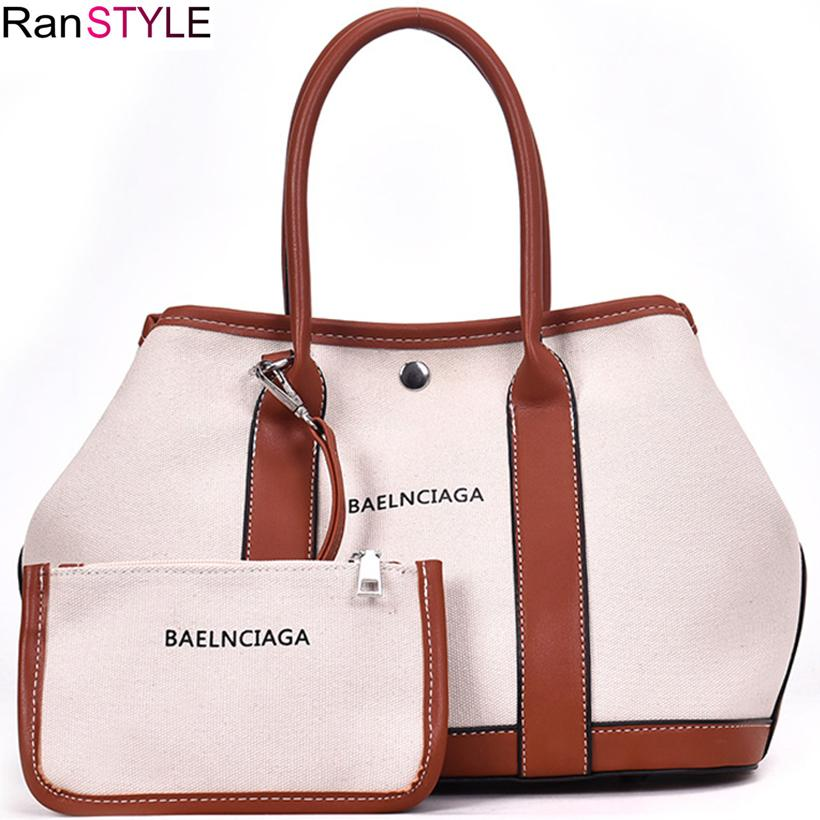 2019 Fashion Large Women Tote Bag Canvas Handbag Fashion Letters Canvas Bag  Women White Shoulder Bag Female Tote Purse Purses And Handbags Black  Handbags ... bf33d805b0bff