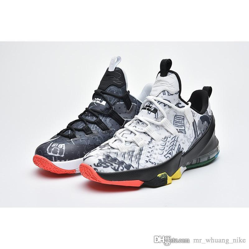 plus récent 8f995 3202d Mens ce que le lebron 13 bas chaussures de basket LMTD MVP Floral Floral  garçons filles jeunes enfants baskets bottes avec boîte