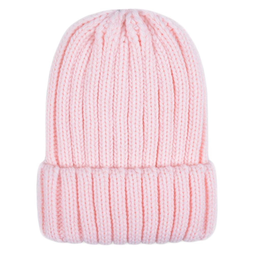 a7b4212cca4 Women Winter Chunky Ribbed Knitted Hat Unisex Thicken Vertical ...
