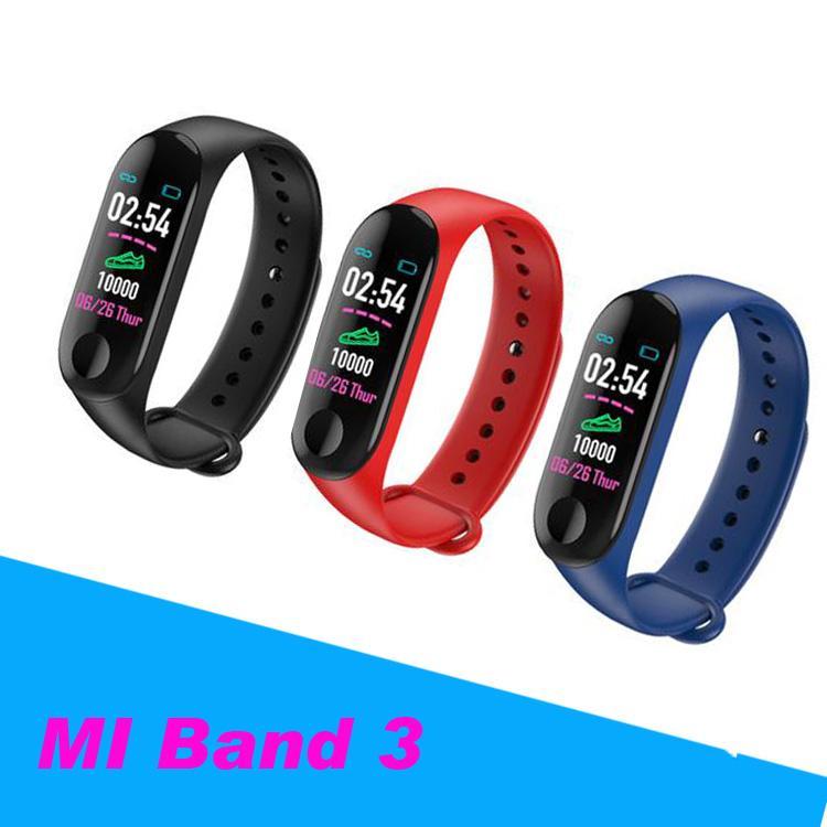 462a847760f8 MI BANDA 3 Pulsera de Banda Inteligente Reloj de Ritmo Cardíaco Actividad  Rastreador de ejercicios pulseira Relogios reloj inteligente PK fitbit ...
