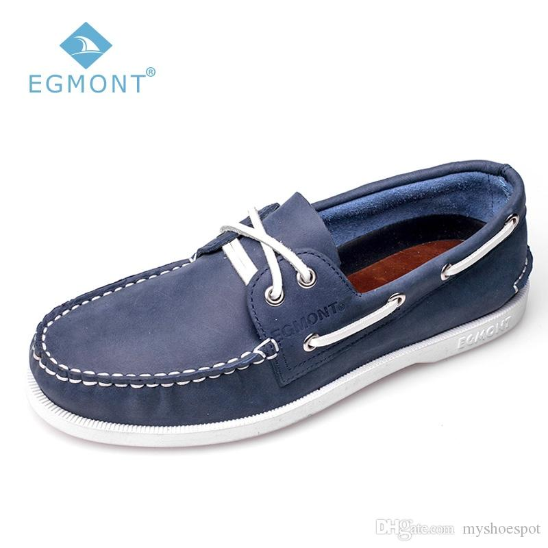 479a40f81eb2f Egmont EG 09 Blue Navy Spring Summer Boat Shoes Mens Casual Loafers Genuine  Nubuck Handmade Comfortable Breathable #7641 Loafers For Men Red Shoes From  ...