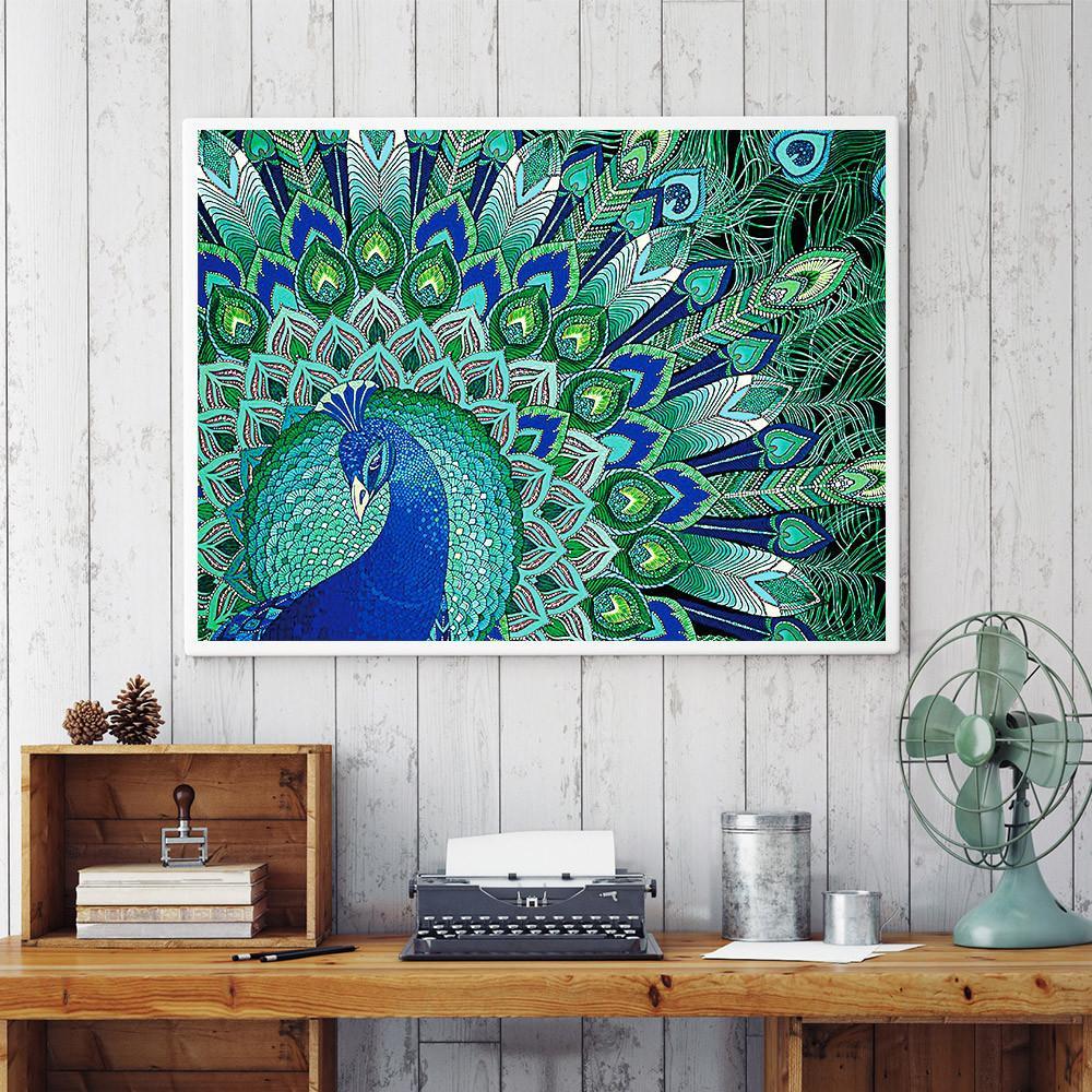 Spécial en forme de diamant peinture papillon paon hibou fleur bricolage 5D forage partiel Cross Stitch Kits Cristal Strass Arts