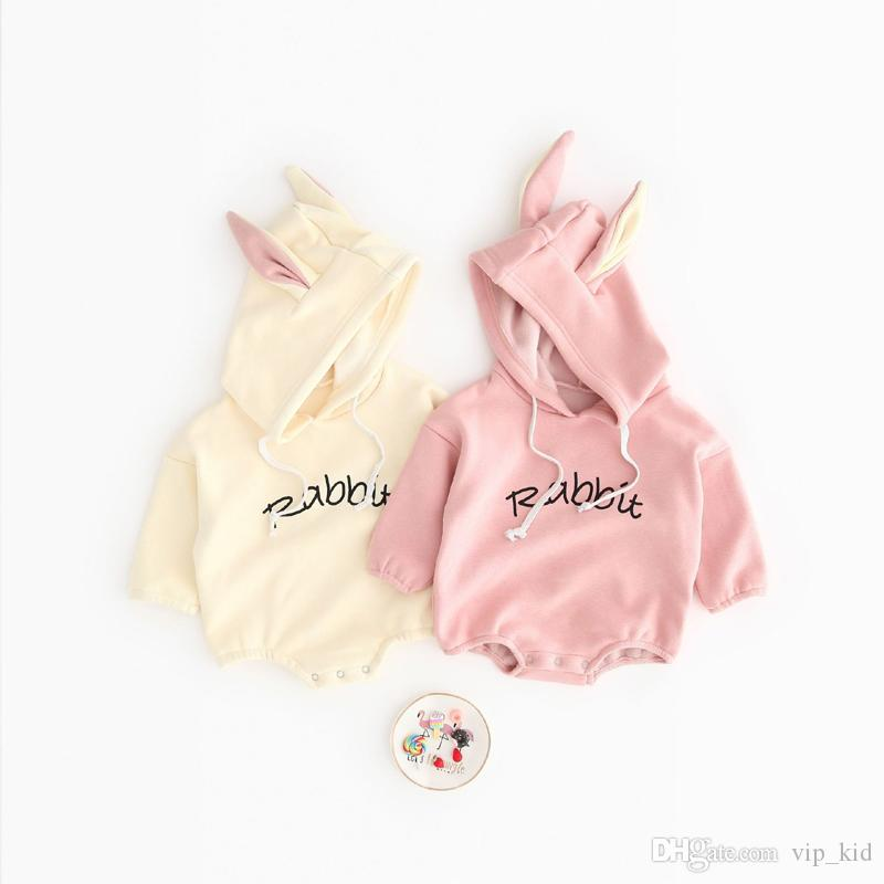 Todder Kid new born baby clothes Girl Boy Rabbit Letter Sweatshirt Tops Spring Autumn clothes Pullover Bodysuit baby costumes D