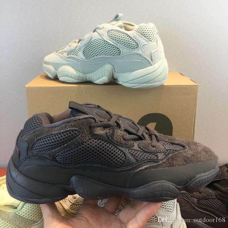 quality design 87ccb 219c5 Zapatillas De Deporte Kanye West 500 De 2019 Con Estuche Original Negro  DB2908 Super Moon Yellow DB2966 Salt 500 Hombre Sports Sports Sneaker Por  Outdoor168 ...