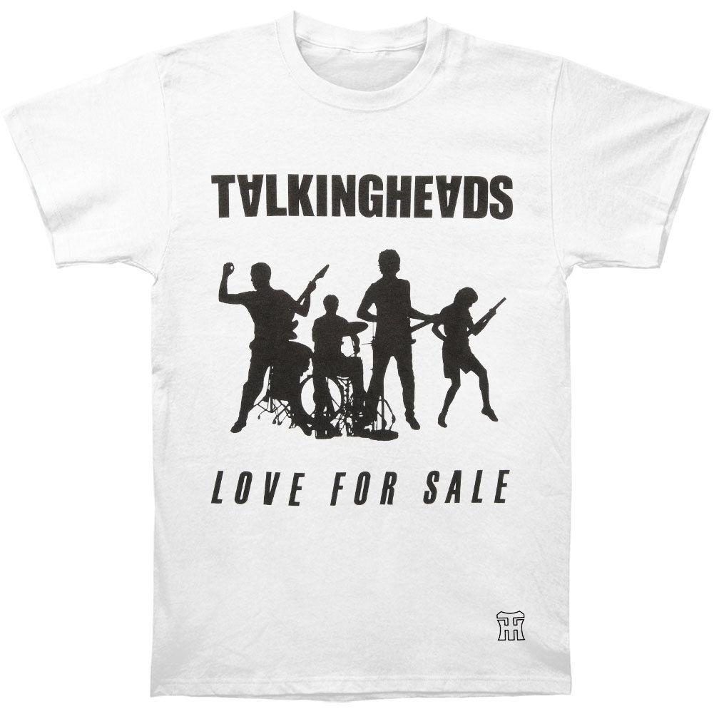 dc975136 Talking Heads Men's Love For Sale Vintage T-shirt Small White Rockabilia  funny gift Short Tops Round Neck Tees short Sleeve T-Shirt