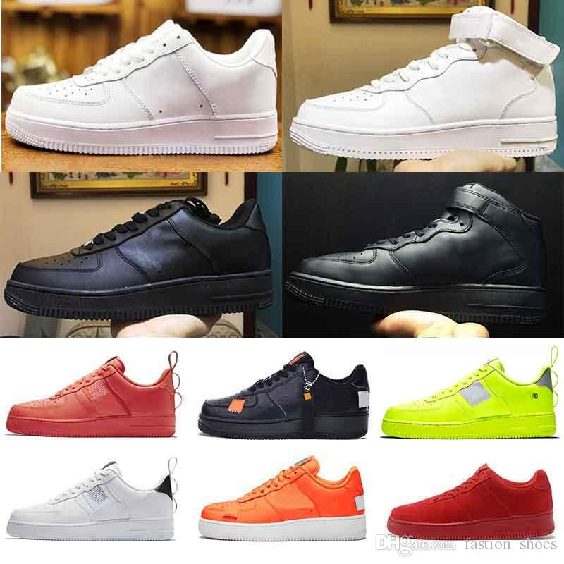 NIKE AF 1 air force 1 Utility Classic Black White Dunk Hombres Mujeres Zapatos casuales red one Sports Skateboard High Low Cut Wheat Entrenadores