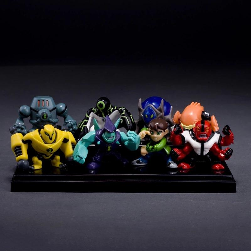 8pcs/lot High quality Cartoon Action Figure Ben 10 Aliens Anime Figure  model PVC Garage Kits toy kids baby birthday gift toy