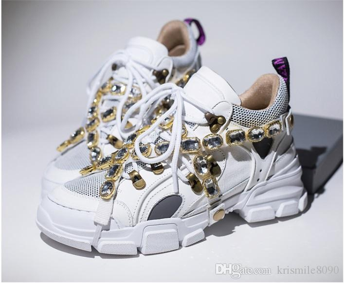Flashtrek Sneaker 2019 Top Quality Removable Crystals Womens Luxury