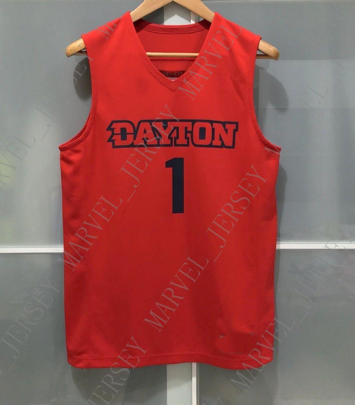 on sale 602db c3b9c Cheap custom DAYTON FLYERS #1 NCAA MENS BASKETBALL JERSEY RED Stitched  Customize any number name MEN WOMEN YOUTH XS-5XL