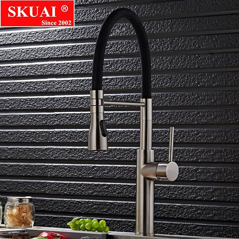 2019 Pull Down Kitchen Faucet Brushed Nickel Kitchen Water Faucet