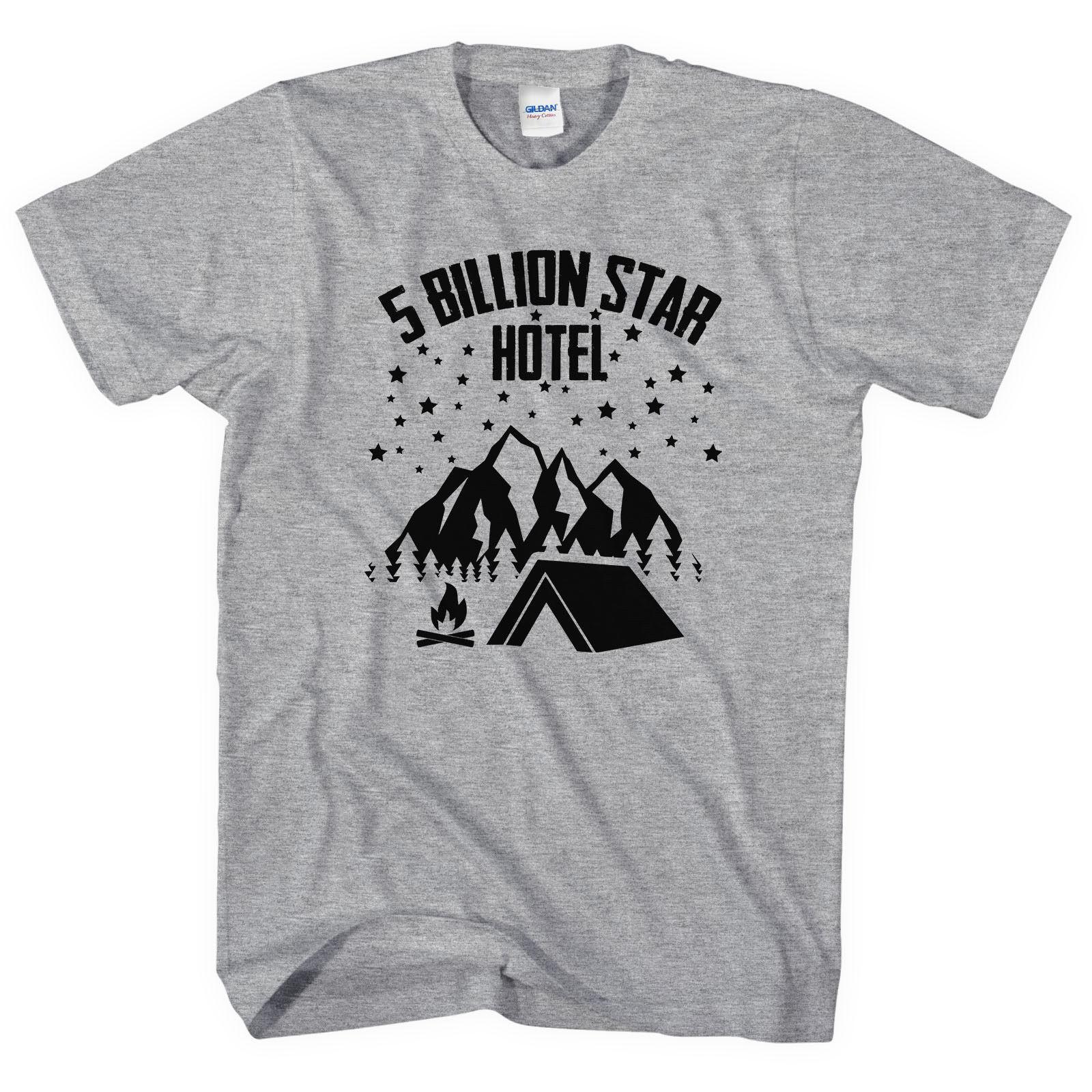 8f4003df75 Camping T-Shirt 5 Billion Star Hotel Scout Camp Estate Uomo Donna Bambino  Tshirt L230 UK Camicie di marca jeans Stampa