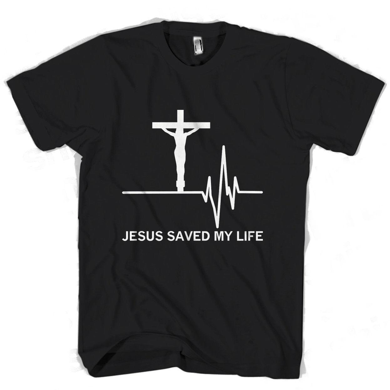 b1690f061 Compre Jesús Salvó Mi Vida Salvador Dios Religión Oración Fe Chr Hombres /  Camiseta De Mujer Color Jersey Imprimir Camiseta A $16.24 Del Qqq1510488977  ...