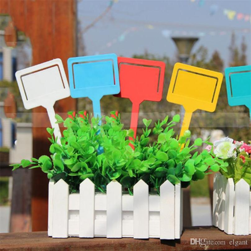 87133ce005dd 10 Pcs Gardening Labels Reusable Plastic T-type Gardening Label Plant  Flower Nursery Label Tag Marker Thick High Quality