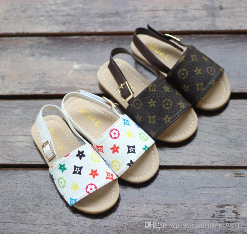 21019 new children's shoes summer and autumn baby beach children's sandals and slippers Korean fashion simple children's princess shoes